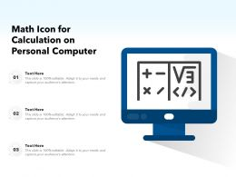 Math Icon For Calculation On Personal Computer