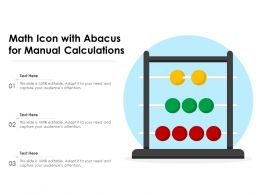 Math Icon With Abacus For Manual Calculations