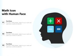 Math Icon With Human Face