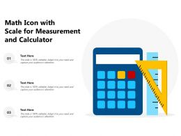 Math Icon With Scale For Measurement And Calculator