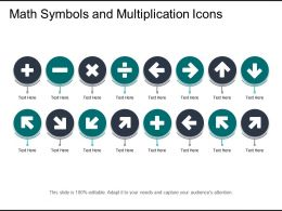 Math Symbols And Multiplication Icons