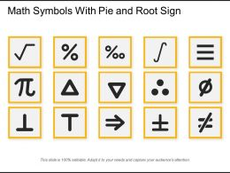 Math Symbols With Pie And Root Sign