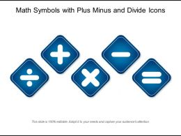 Math Symbols With Plus Minus And Divide Icons