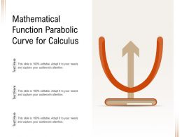 Mathematical Function Parabolic Curve For Calculus
