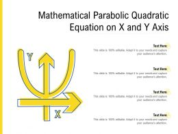 Mathematical Parabolic Quadratic Equation On X And Y Axis
