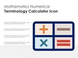 Mathematics Numerical Terminology Calculator Icon