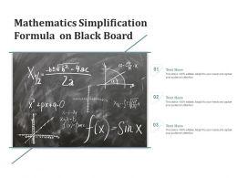 Mathematics Simplification Formula On Black Board