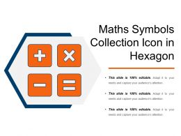 Maths Symbols Collection Icon In Hexagon