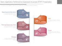 Matrix Application Performance Supervision Example Of Ppt Presentation