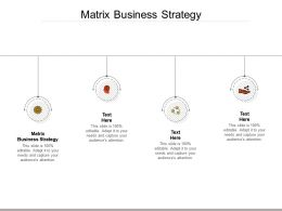 Matrix Business Strategy Ppt Powerpoint Presentation Summary Icon Cpb