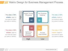 Matrix Design For Business Management Process Ppt Slide Show
