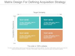 Matrix Design For Defining Acquisition Strategy Ppt Examples