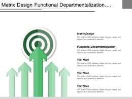 Matrix Design Functional Departmentalization Marketing Department Purchasing Department