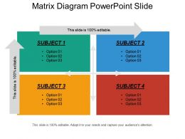 Matrix Diagram Powerpoint Slide