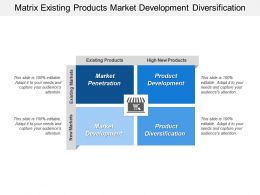 Matrix Existing Products Market Development Diversification