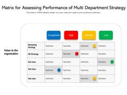Matrix For Assessing Performance Of Multi Department Strategy