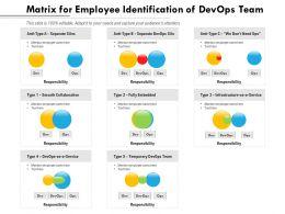Matrix For Employee Identification Of Devops Team