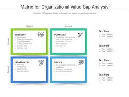 Matrix For Organizational Value Gap Analysis