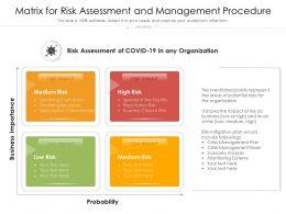 Matrix For Risk Assessment And Management Procedure