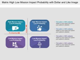 Matrix High Low Mission Impact Probability With Dollar And Like Image