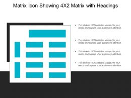 Matrix Icon Showing 4x2 Matrix With Headings