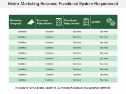 Matrix Marketing Business Functional System Requirement