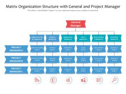 Matrix Organization Structure With General And Project Manager