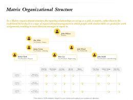 Matrix Organizational Structure Chris Patt Ppt Powerpoint Presentation File Master Slide