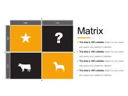 Matrix Powerpoint Slide Templates Download