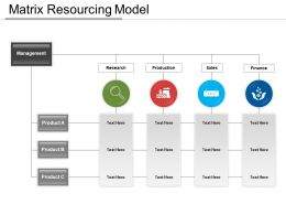 Matrix Resourcing Model Sample PPT Files