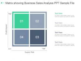 Matrix Showing Business Sales Analysis Ppt Sample File