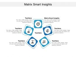 Matrix Smart Insights Ppt Powerpoint Presentation Gallery Maker Cpb