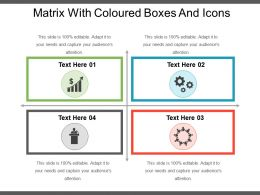 Matrix With Coloured Boxes And Icons