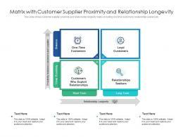 Matrix With Customer Supplier Proximity And Relationship Longevity