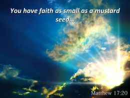 Matthew 17 20 You Have Faith As Small Powerpoint Church Sermon