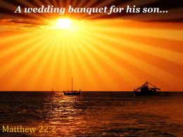 Matthew 22 2 A Wedding Banquet For His Son Powerpoint Church Sermon