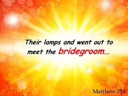 Matthew 25 1 Lamps And Went Out To Meet Powerpoint Church Sermon