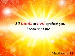 Matthew 5 11 All Kinds Of Evil Against Powerpoint Church Sermon
