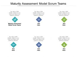 Maturity Assessment Model Scrum Teams Ppt Powerpoint Presentation Layouts Designs Cpb
