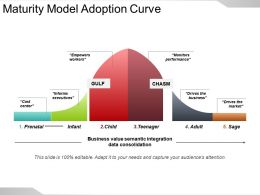 Maturity Model Adoption Curve Powerpoint Slide Presentation Tips