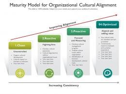 Maturity Model For Organizational Cultural Alignment