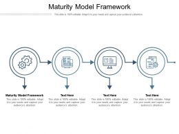 Maturity Model Framework Ppt Powerpoint Presentation Infographics Show Cpb