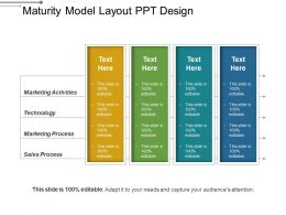 Maturity Model Layout Ppt Design
