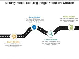 Maturity Model Scouting Insight Validation Solution