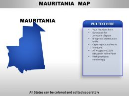Mauritania Country Powerpoint Maps