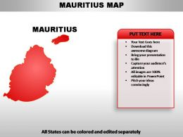 Mauritius Country Powerpoint Maps