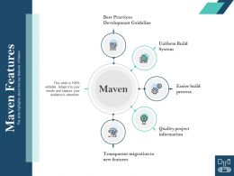 Maven Features Development Guideline Ppt Powerpoint Presentation Background