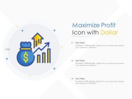 Maximize Profit Icon With Dollar