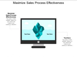 Maximize Sales Process Effectiveness Ppt Powerpoint Presentation Gallery Graphics Template Cpb