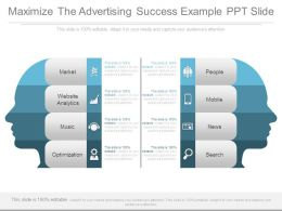 Maximize The Advertising Success Example Ppt Slide